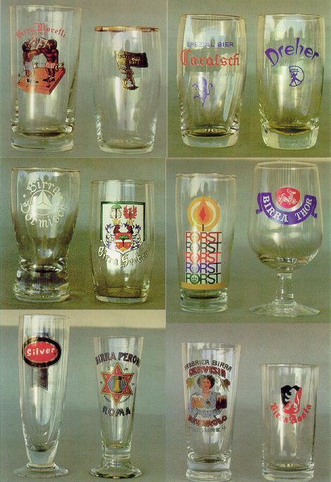 antichi bicchieri di birra